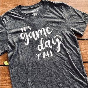 Grey Game Day Tee